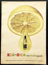 KIA-ORA Lemon Squash - Vintage Magazine Advert - Soft Drink (6 June 1953)*