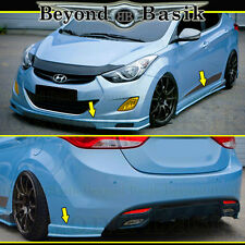 Fits 2011-2013 HYUNDAI ELANTRA 4 Door Sedan 5pc Sequence Style Aero Lip Body Kit