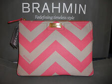 "NWT Brahmin Leather Ipad/Clutch Bag ""Chevron"""