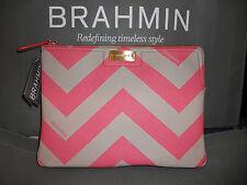 "NWT Brahmin Leather Ipad/Clutch Bag ""Chevron"""