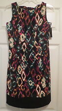 ladies 6P dress AGB womens sleeveless multi color cocktail dinner petite NWT