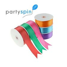 "Satin Ribbon 100 Yard Roll, 100% Polyester, 1/4"" 3/8"" 5/8"" 7/8"" Bulk"