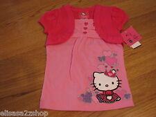 Girls Hello Kitty t shirt  6 HK5203365 DLP Doll Pink HK Circle Top NWT ^^