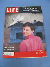 LIFE MAGAZINE JULY 18 1955 AUDREY HEPBURN ITALY COVER ARCHIE MOORE BOXING