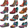 SOCOFY Women's Zipper Ankle Boots Mid Heel Leather Pumps Splicing Handmade Shoes