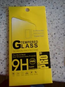 SPECIAL= 2X  APPLE I PHONE  PRO +TEMPERED GLASS  CRYSTAL CLEAR SCREEN COVER