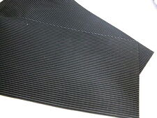 Ribbed Grooved Corrugated Anti vibration Rubber Matting Neoprene 230 x 460 x 4mm