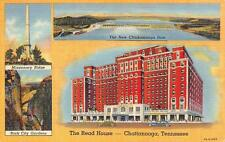 CHATTANOOGA, Tennessee  THE ROAD HOUSE HOTEL  c1940's Curteich Linen Postcard