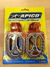 KTM  SX85 SX 85  2003-2017  APICO PRO BITE WIDE ORANGE FOOTPEGS FOOT RESTS PEGS