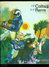 1967 (Oct. 15) Baltimore Colts NFL football program v Los Angeles Rams