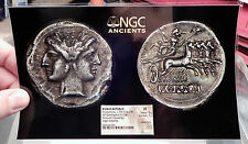 Roman Republic QUADRIGATUS Anonymous Authentic Ancient Coin JANUS NGC XF i61065