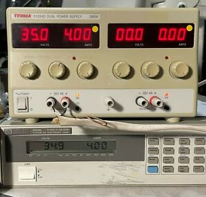 Tenma EX354D Dual Output 35V 4A Variable DC Power Supply - Load Tested