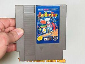 BurgerTime 5 Screw - Authentic Nintendo NES Game