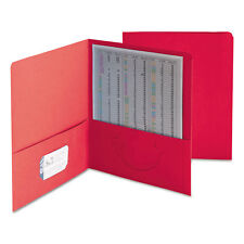 Smead Two-Pocket Folder Textured Paper Red 25/Box 87859