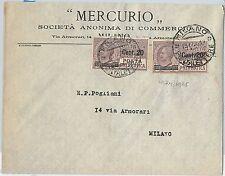64186 - ITALIA REGNO - STORIA POSTALE : POSTA PNEUMATICA #6*2  su BUSTA 1917