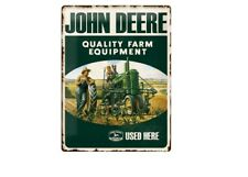 TARGHETTA in Lamiera 23137-John Deere Quality Equipment Farm - 30 x 40 CM-NUOVO