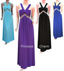 Purple Blue Black Formal Evening Bridesmaids Dress V Neck Size 24 to 12 New