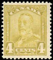 1929 Mint H Canada F+ Scott #152 4c KGV Scroll Issue Stamp