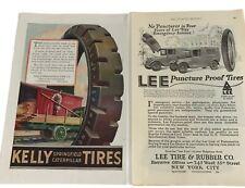 Vintage Tire Ads Kelly Springfield Caterpillar Lee New York Murad Ivory on back