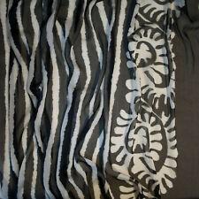 ETRO authentic pure silk chiffon fabric. Black & white. Made in Italy. Prc x 1m.
