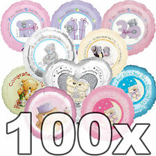 100 Teddy Bear Clearance Me To You Job Lot Bulk Bargain Foil Packaged Balloons
