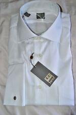 $225 NWT IKE BEHAR Gold 16 e41 White s120's Cotton french cuff dress shirt USA