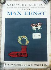 Ancienne affiche exposition Max Ernst 1966-1967 Lyon, originale