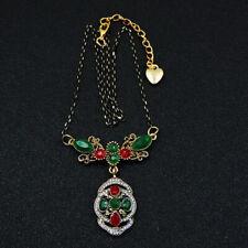 Betsey Johnson Fashion Jewelry Retro Popular Gemstone Pendant Necklace C10