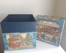 "Bob's Nesting Box Susan Winget ""The Night Before Christmas"" No.4 8"" cube"