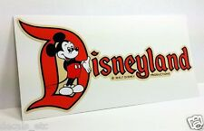 Disneyland CA, Mickey Vintage Style Travel Decal / Vinyl Sticker, Luggage Label