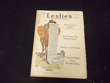 1919 SEPTEMBER 13 LESLIE'S WEEKLY MAGAZINE - GREAT COVER, PHOTOS & ADS - ST 2258