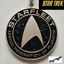 STAR TREK STARFLEET Metal Key chain Gold color Collectible gift decor US seller
