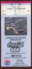Ticket Nascar 1996 Charlotte 5/26 Coca Cola 600