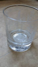 Glass Votive/Candle/Tealight Holder Clear With Leaf Design New