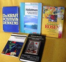 5 x Esoterik Paket Sammlung - Positives Denken Zauberpflanzen Rosen Heilatmen