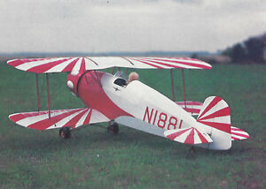 1/6 Scale Bucker Jungmeister Biplane Plans,Templates and Instructions 40ws