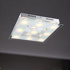 WOFI lámpara LED de techo Esfinge 9-flg Cromo Vidrio anguloso 39cm 45 vatios