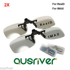 Brand New 2 Pairs Adult 3D Glasses for RealD/Imax Cinema Use LG Polarized 3D TVs