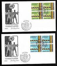 Un Geneva #69-70 Combat Racism Set of 2 Artmaster B4Fdcs