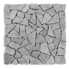 DIVERO 1 Fliesenmatte Mosaikfliese Marmor Naturstein anthrazit grau 30 x 30 cm