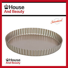 NEW IBC Gold Quiche/Flan Pan Round Loose Base 25 x 3.5cm, Heavy Duty, 12273
