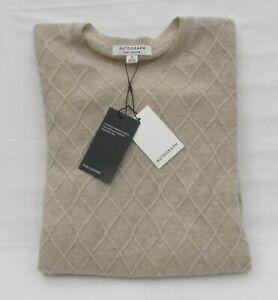 Damen Marks & Spencer Autograph hellbeige gemustert Pure Cashmere Pullover Größe 18
