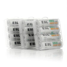 12x EBL AA 2800mAh Ni-MH Nickel Metal Hydride Rechargeable Battery +Battery Case
