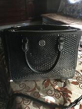 Tory Burch Robinson Double Zip woven leather tote