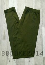 Solid Olive Leggings! Buttery Soft! OS Womens One Size (2-10) NEW