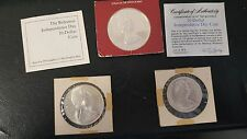 Unique set of  Two, Five and Ten Dollar proof quality Bahamas Silver Coins