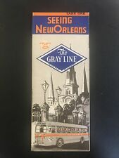 """Vintage Travel Brochure, """"The Gray Line Motor Tours, Seeing New Orleans"""""""