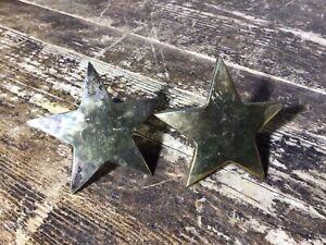 Star Brass Napkin Rings Pair