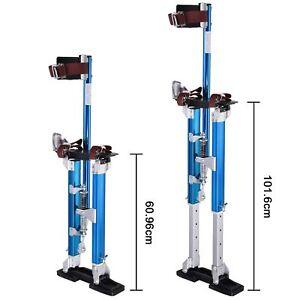 "Adjustable Height 24-40"" Painting Painter BuilderAluminium Drywall Stilts Tool"