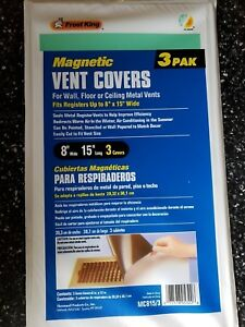Frost King MC815/3 Magnetic Ventilation Cover, 8 X 15 in, Pack of Three